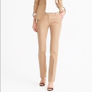 NEW J. Crew Campbell Trousers- Camel